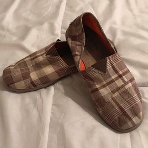 Bobs from Sketchers Slip On Flats Plaid